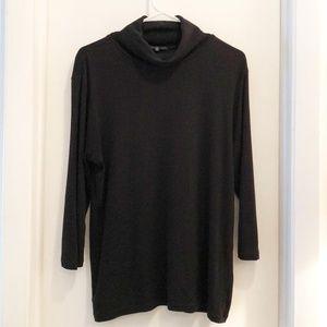 GAP Turtleneck Top Black Long Sleeve XL